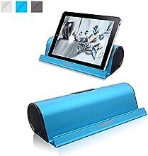Kamor® Tragbare Bluetooth Lautsprecher Reisegröße mit Cradle, Powered Subwoofer, Unglaubliche 10 Stunden Wiedergabedauer, Aufladbarer Bluetooth Lautsprecher für iPhone 6 / 6 Plus / 5S / 5 / 4S, iPad Mini 3 / mini 2 / mini, iPad Air 2 / Air, iPad 2 3 4, iPod, itouch, Samsung Galaxy S5 / S4 / S3 / Note 4 / Note 3, LG Nexus 5 / G3 / G2 / Exalt, Sony Xperia Z2, HTC One M8, Nokia Lumia 520, Smartphones, Tablets PC, Laptops, Ultrabook and Mp3 Player - Blau