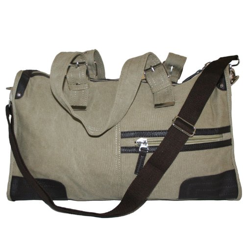 Canvas Shoulder Hand Carry Holdall Bag Desert 309