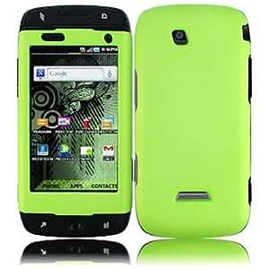 HR Wireless Samsung Sidekick 4G T839 Rubberized Cover Case - Retail Packaging - Neon Green