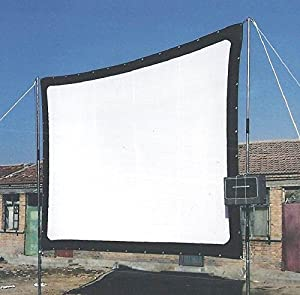 200 Inches Portable Screen Canvas Projection Film Video Cinema Theater White Screen Multimedia Projector Front Projection Screen can fold high brighrness
