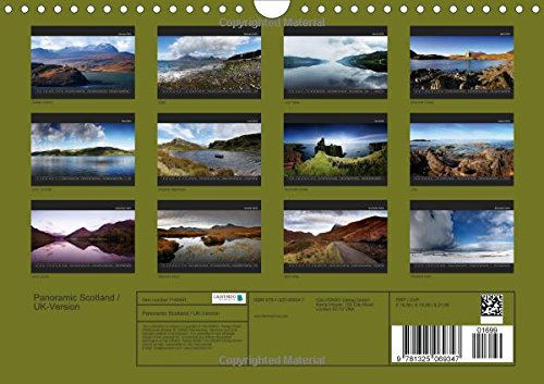 Panoramic Scotland / UK-Version (Wall Calendar 2016 DIN A4 Landscape): Discover the beauty of Scotland in 12 stunning panoramic photographs. (Monthly calendar, 14 pages) (Calvendo Nature)