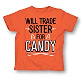 Will Trade Sister For Candy Funny Sibling Halloween - Youth T-Shirt