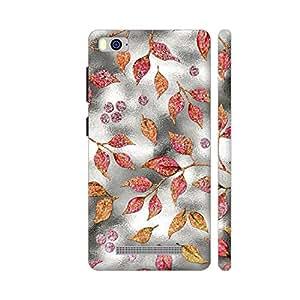 Colorpur Autum Leaves Silver Metal 1 Artwork On Xiaomi Mi 4i Cover (Designer Mobile Back Case) | Artist: UtART