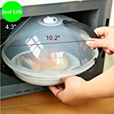 Just Life Microwave Plate Spatter Cover Kitchen 10.2-inch