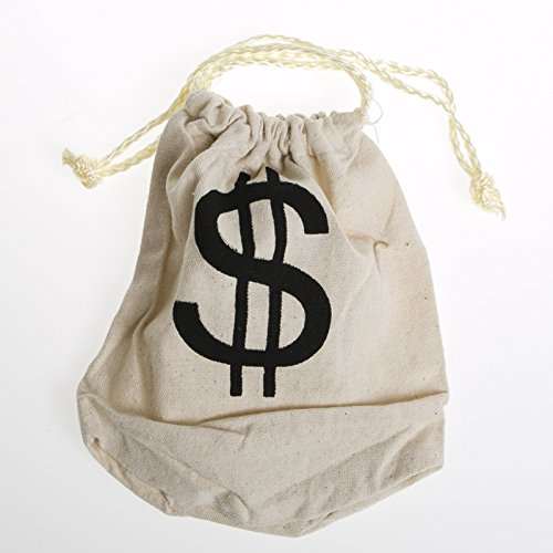 """$"" Money Drawstring Bag"