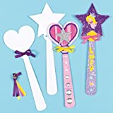 Princess Wand Strong White Card Blanks for Children to Paint Decorate & Personalise - Pack of 8