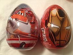 Disney Planes and Marvel Avengers Iron Man Themed Easter Eggs-2 pack