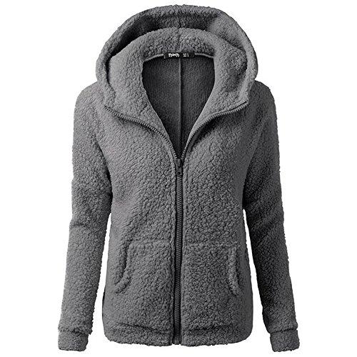 smartland-womens-winter-long-sleeve-full-zip-soft-fleece-hooded-jumper-hoody-jacket-coat-s-darkgray