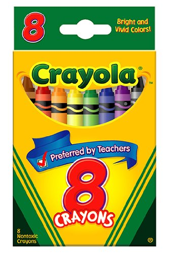 Crayola : Classic Color Pack Crayons, Wax, Standard Size, Peggable Tuck Box, 8 Colors/Box -:- Sold as 2 Packs of - 1 - / - Total of 2 Each