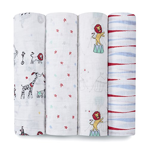 Circus Classic Muslin Swaddle by aden + anais