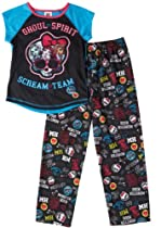 Monster High Ghoul Spirit Girls Black 2 Piece Pajama Set-Small