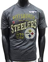 NFL Pittsburgh Steelers Line to Gain T-Shirt - Charcoal by Nutmeg