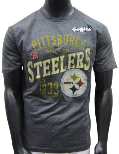 Pittsburgh Steelers Grey Line To Gain T-shirt from SteelerMania