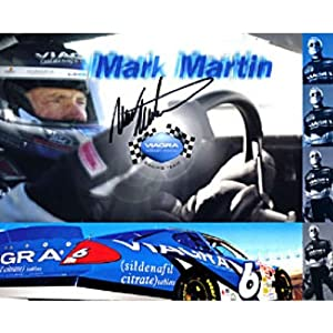 Mark Martin Autographed Photograph - Collage 8x10 - Autographed NASCAR Photos by Sports Memorabilia