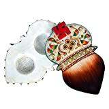 JE Multitrade White marble Stone Kumkum Rice Holder For Puja And Religious Purpose (Multi Color, JE STONE006)
