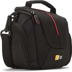 Case Logic DCB304K High-Zoom Camera Case Kameratasche inkl. Tragegriff/Schultergurt/Gürtelschlaufe schwarz/rot