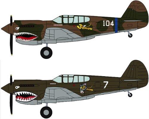 """1/72 P-40E ウォーホーク""""フライング タイガース コンボ"""" (02082)"""