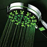 Mid-Summer Price Madness! Limited time offer - save over 50% on World's Only Chrome-Face LED/LCD Hand Shower with Lighted LCD Temperature Display! HotelSpa® Ultra-Luxury Temperature Color-Changing 5-Setting Handheld with Premium Stainless Steel Hose and Angle-Adjustable Overhead Bracket Special Savings Deal from Top Brand Manufacturer!