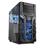 Sharkoon ゲーミングPCケース 強化ガラスサイドパネル採用 ブラック/ブルーLED SHA-DG7000-GB 正規代理店品