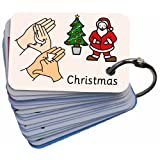 BSL Signs & Symbols Christmas Card Keyring, Sign Language Graphics by Cath Smith (LET'S SIGN Series) & Widgit Symbolsby BSL for Kids