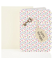 Spotty Key Happy New Home Greetings Card
