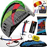 Prism Tensor 3.1 Power Foil Kite (Blue) 3-Line Control Bar Traction Trainer Bundle:... by Prism, HQ, WindBone