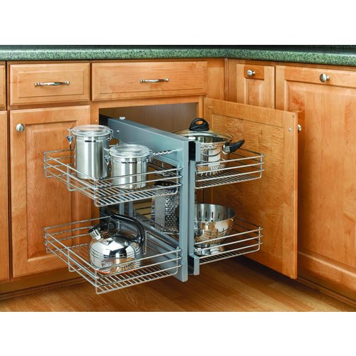 Rev-A-Shelf 5PSP-15-CR Chrome Blind Corner Cabinet Organizer