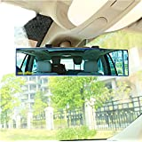 Opar Auto Car 300mm Wide Convex Curve Interior Clip On Panoramic Rear View Mirror Anti-Glare Clear Tint