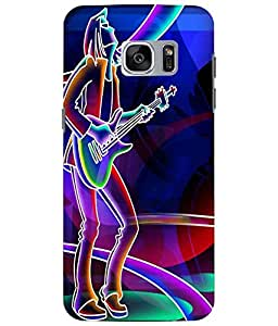Case Cover Guitar Printed Multicolor Soft Back Cover For Samsung Galaxy S7 EDGE