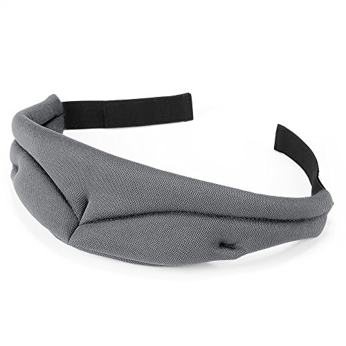 PLEMO 立体アイマスク 形状記憶 男女兼用 ソフト素材 睡眠 旅行に最適 (ダークグレー)