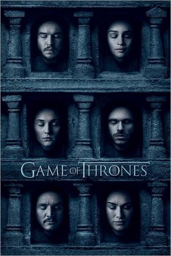 Poster Game of Thrones - Hall of Faces - manifesto risparmio, cartellone XXL