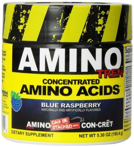 Promera Health Amino Tren Diet Supplements, Blue Raspberry, 150.4 Gram