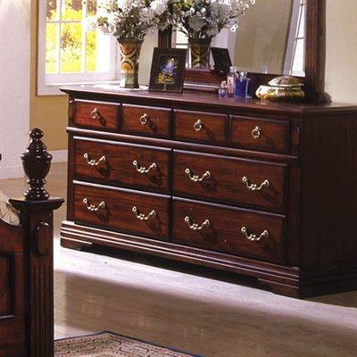 Lewisberg Solid Wood Dark Cherry Finish Bedroom Dresser