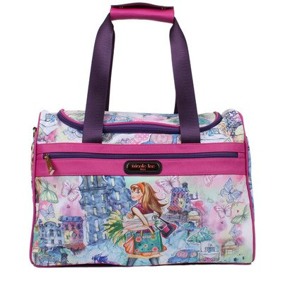 nicole-lee-jamie-17-inch-carry-on-duffel-bag-with-shoulder-strap-tulip-girl-one-size