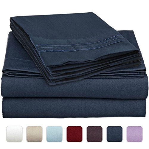 #1 Bed Sheet Set On Amazon - Super Silky Soft - Sale - Highest Quality 100% Brushed Microfiber 1800 Bedding Collections - Wrinkle, Fade, Stain Resistant - Hypoallergenic - Deep Pockets - Luxury Fitted & Flat Sheets, Pillowcases - Best For Bedroom, Guest R