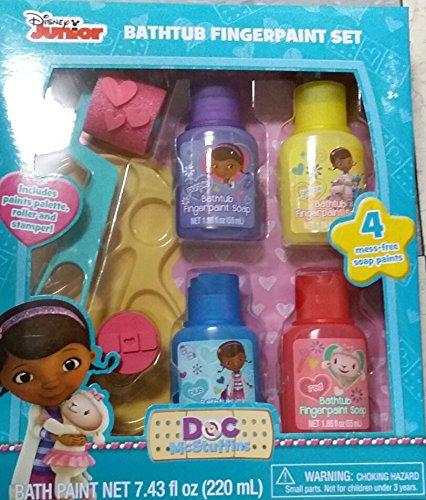 Doc McStuffins Bath Tub Finger Paint Set