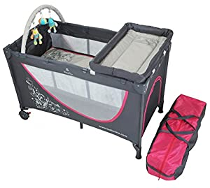 Portable Crib With Chaniging Mat Travel Cot Bed 293 01