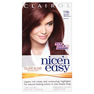 Clairol Nice'n Easy Permanent Hair Colour - 118E Natural Medium Mahogany Brown