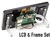 "7""LCD+フレーム ラズベリーパイ 公式 7インチ タッチスクリーン ディスプレイ Raspberry Pi Official 7"" Touch Screen LCD(Black)"