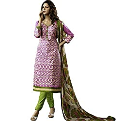 Typify Women's Chanderi Unstitched Dress Material (TYPIFY227_Multicolor_Free Size)
