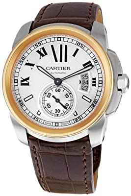 Cartier Calibre de Cartier 18k Rose Gold & Steel Automatic Watch W7100011