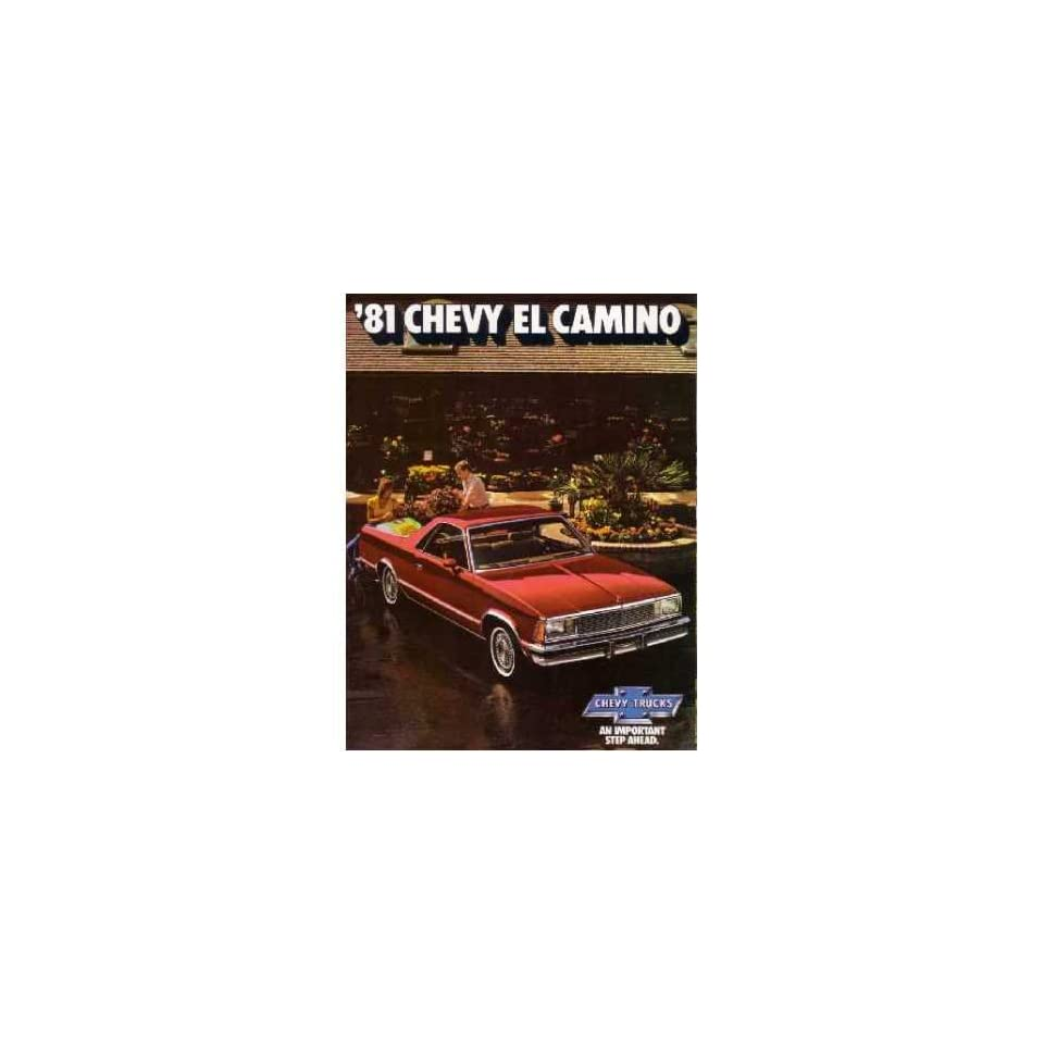 1981 Chevrolet El Camino Sales Brochure Literature Book Options Specification