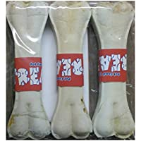 TREATS Dog Rawhide Pressed Dog Bone- 6 Inches, Pack Of 3