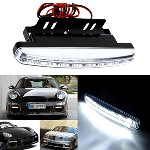 Welcomeuni Car Light,8LED Daytime Driving Running Light DRL Car Fog Lamp Waterproof White DC 12V (Security Light For Car compare prices)