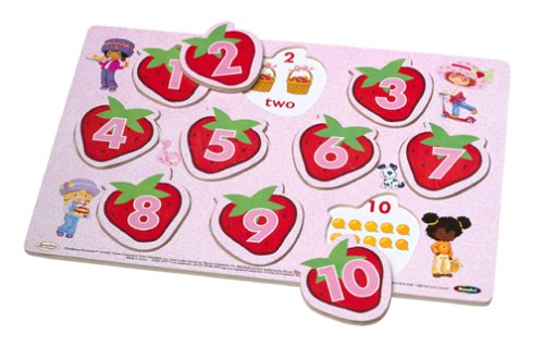 Strawberry Shortcake 1-2-3 Counting Multi Layer Wood Learning Puzzle