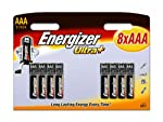 Energizer UltraPlus Battery Alkaline LR03 1.5V AAA Ref 628160 [Pack of 8] from Energizer Batteries