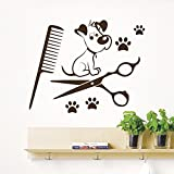 DecorRooms Dog Wall Decals Grooming Salon Pets Decal Pet Shop Decor Vinyl Stickers
