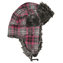 Plaid aviator cap - HS601 (Pink)