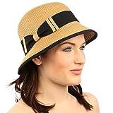 Summer Derby 1920 Flapper Bow Soft Cloche Bucket Bell Shape Church Hat Toast