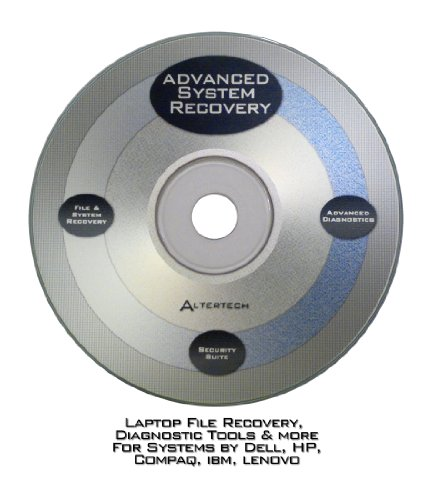 Advanced System CD for Laptop -File Restore, Diagnostics & More for DELL, Compaq, HP, Acer, Lenovo, IBM, Toshiba